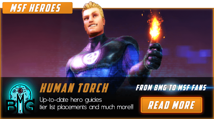 Marvel Strike Force Human Torch Featured