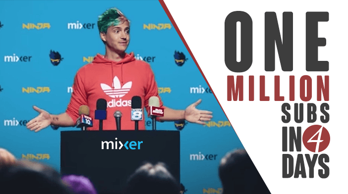 Ninja hits 1M subs on Mixer