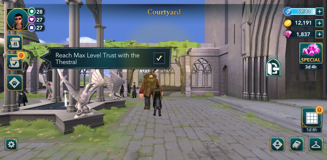 Harry Potter Hogwarts Mystery Walkthrough The Dark Horse Hagrid Friend