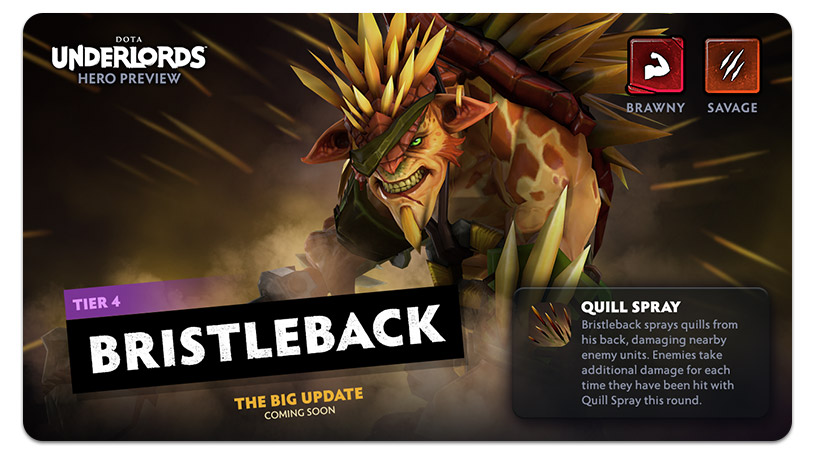 Dota Underlords Update Bristleback