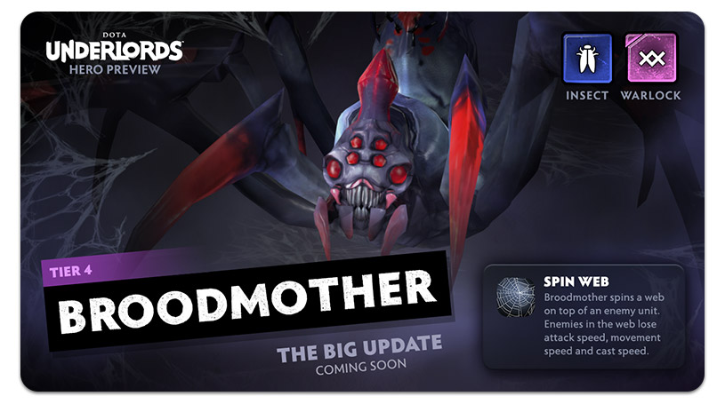 Dota Underlords Update Broodmother