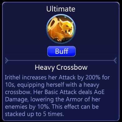 Mobile Legends Adventure Irithel Ultimate Heavy Crossbow