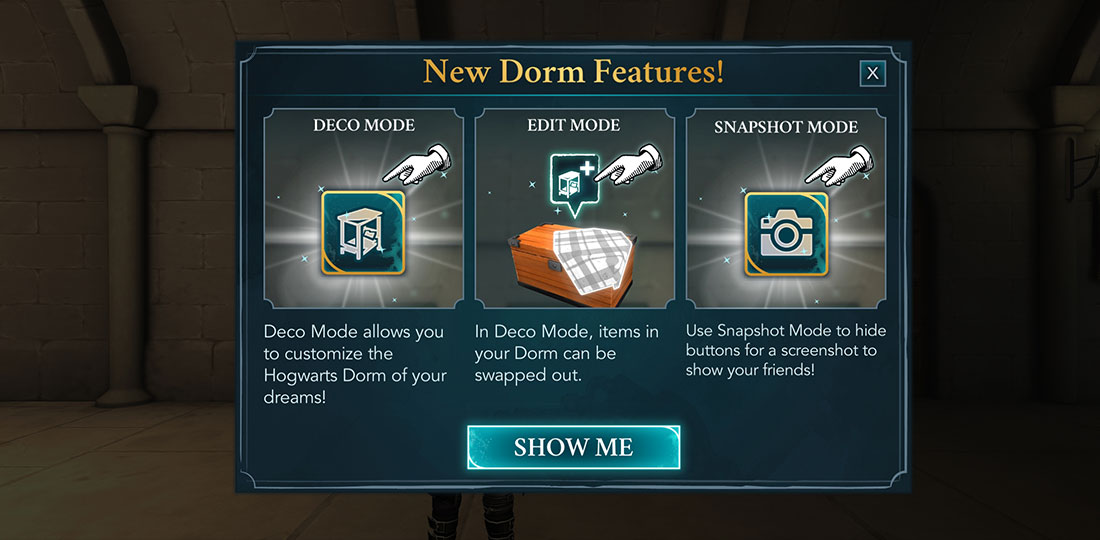 Harry Potter Hogwarts Mystery Dorm Customization