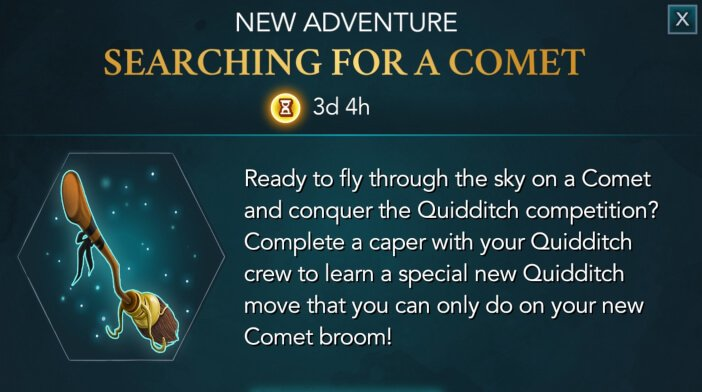 Harry Potter Hogwarts Mystery Quidditch Searching for a Comet
