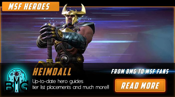 Marvel Strike Fotce Heimdall Featured