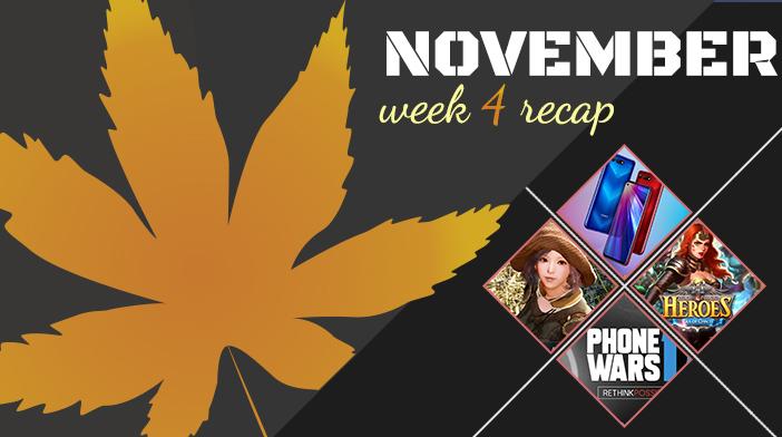 November Week 4 Recap