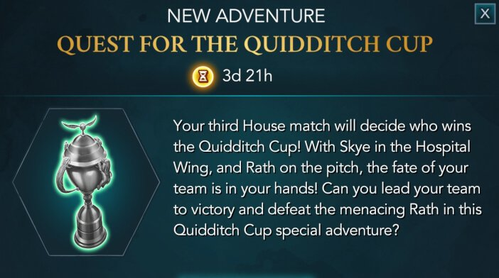 Harry Potter Hogwarts Mystery Quest for the Quidditch Cup