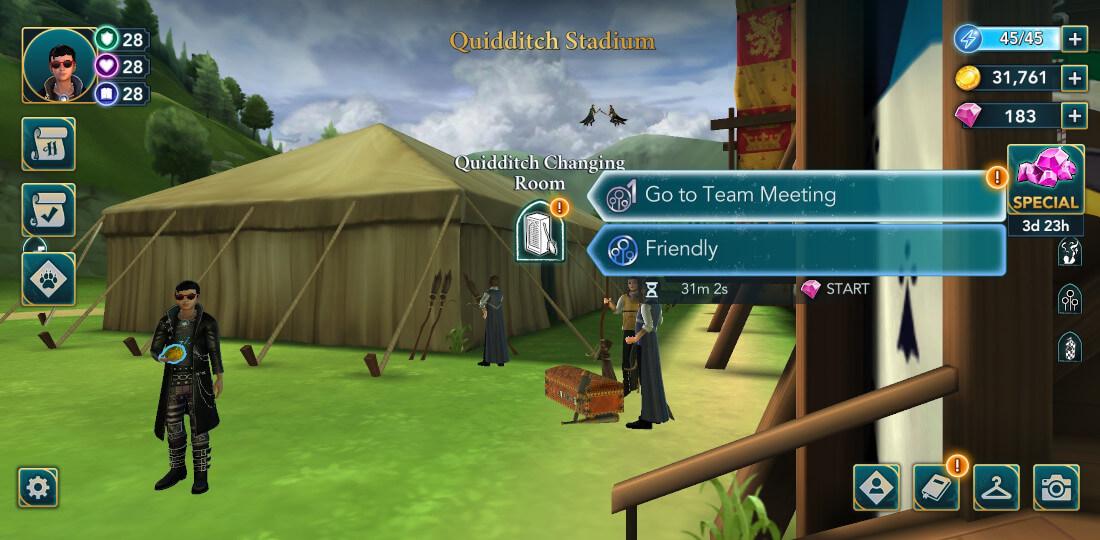 """Harry Potter Poudlard Mystery Quidditch Saison 1 Chapitre 13 """"width ="""" 1100 """"height ="""" 540 """"/> <br /> Quand vous y arrivez , vous pourrez interagir avec certains de vos coéquipiers. <br /> <img src="""